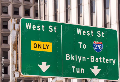 New York City classic street signs and directions