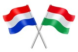 Flags: the Netherlands and Hungary
