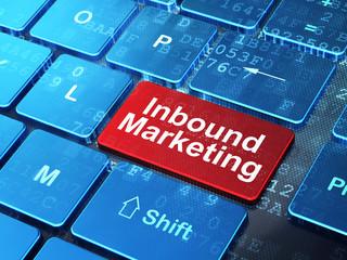 Finance concept: Inbound Marketing on computer keyboard