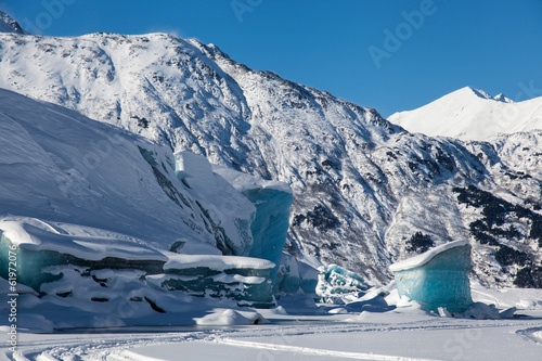 Tuinposter Gletsjers Glacial Blue Ice