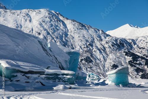 Fotobehang Gletsjers Glacial Blue Ice