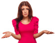 angry evil girl young dissatisfied woman haired