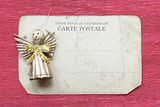 toy angel on card