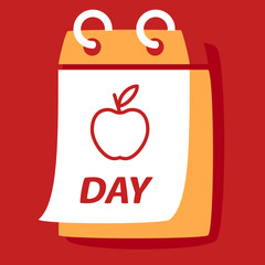 calendar with apple.