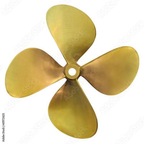 Leinwanddruck Bild Speedboat propeller