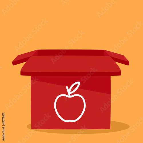 box with icon apple.
