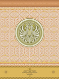 old background with eagle circle label vintage style