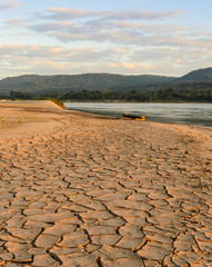Drought land - Greenhouse effect and global warming
