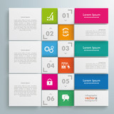Website Template White Squares Design Line