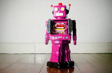 pink robot toy