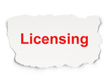 Law concept: Licensing on Paper background