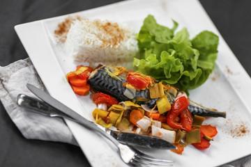 maquereau riz et légumes en papillote 5