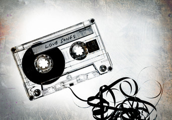 unravelling grungy tape