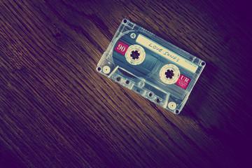 love songs cassette on desk