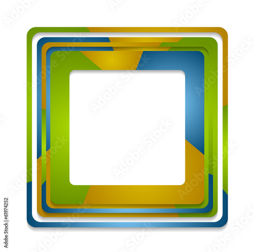 Abstract squares logo background