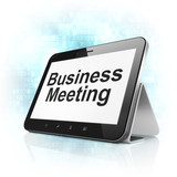 Finance concept: Business Meeting on tablet pc computer