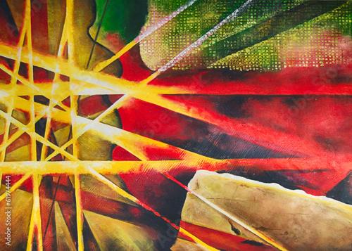 Abstrakter Kunstdruck Ölgemälde Gemälde © artefacti