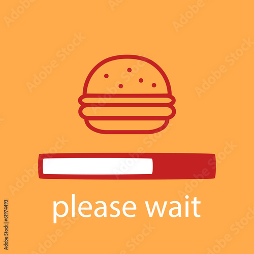 progress bar with a burger.