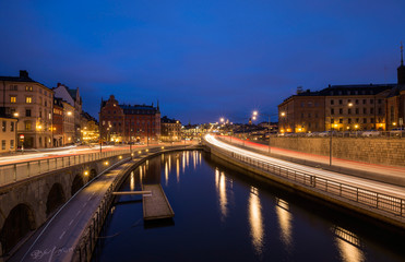 Stockholm's Old Town (Gamla Stan) at Twilight, Sweden