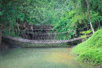 rope bridge  across river