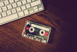 keyboard retro cassette
