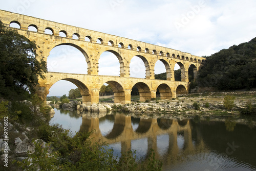 Roman aqueduct at Pont du Gard, France