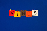 Virus, sign series for the internet and computer terminology. poster