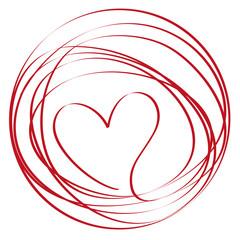Herz, Band, Kreis, Wolle