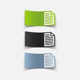 realistic design element: paper, a4
