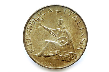 500 Lire Argento Unita' D'Italia 1961 ليرة إيطالية