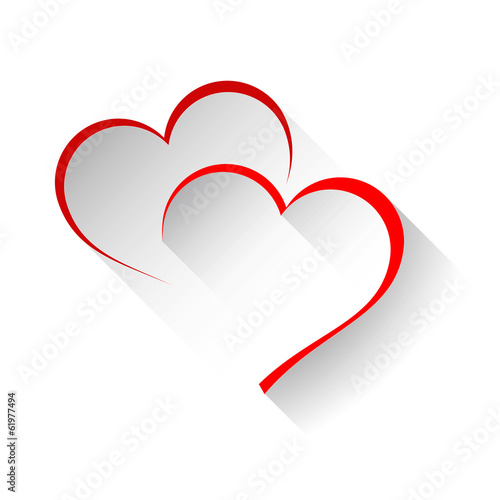 Naklejka Vector logo two hearts