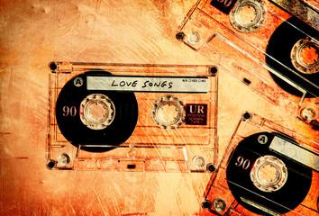 grungy cassettes