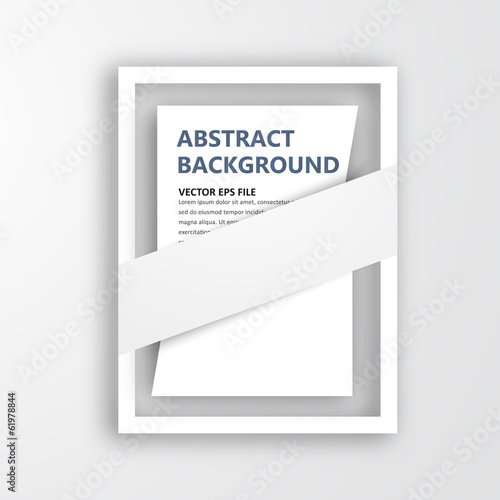 Vector 3D frame. Design for image or text. oblique line