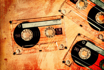 orange grunge cassettes