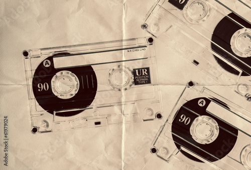 retro paper cassette tapes