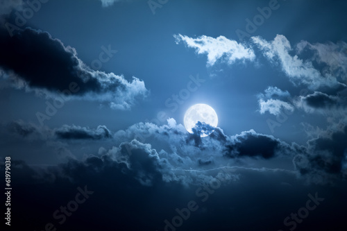 Foto op Canvas Nacht full moon night