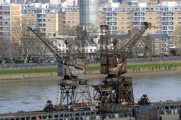 Battersea Docking Cranes