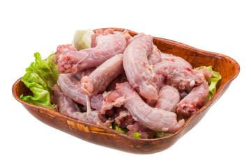 Raw chicken neck