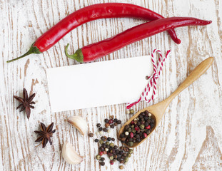 Paper to write recipes with spices
