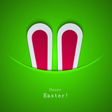 Vector modern easter bunny background. Eps 10