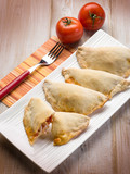 panzerotti with tomato and mozzarella