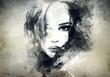 Leinwandbild Motiv abstract  woman portrait
