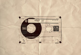 retro paper top ten cassette