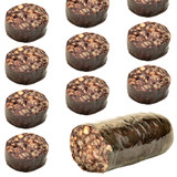 pork blood sausage portions isolated