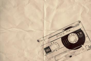 retro paper disco cassette