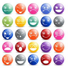 Smiley Icons Shiny Ball
