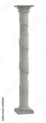 realistic 3d model of column
