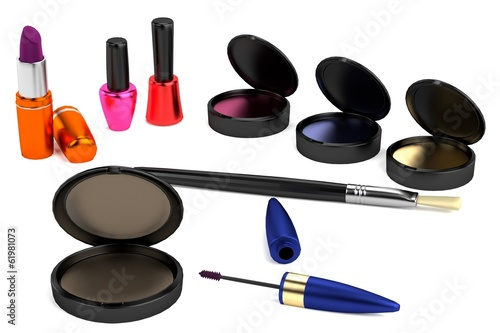 realistic 3d model of cosmetics