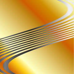Background with gold and silver color composition