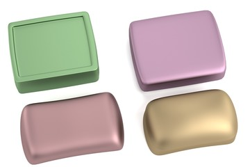 realistic 3d render of soaps